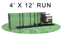 4' X 12' Run w/ 4' X 5' Large Snap Lock Coop (COMPLETE PACKAGE)