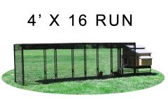 4' X 16' Run w/ 4' X 5' Large Snap Lock Coop (COMPLETE PACKAGE)