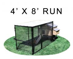 4' X 8' Run W/ 4' X 5' Large Snap Lock Coop (COMPLETE PACKAGE)