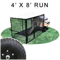 4' X 8' Run w/ 4' X 5' Large Mobile Snap Lock Coop (ULTIMATE PACKAGE)
