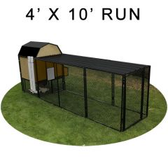 4' X 10' Run w/ 4' X 4' Modern Barn Coop (BASIC PACKAGE)