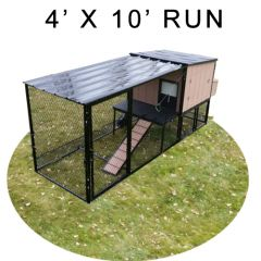 4' X 10' Run w/ 4' X 4' Urban Coop (COMPLETE PACKAGE)