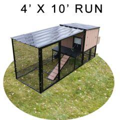 4' X 10' Run w/ 4' X 4' Urban Coop (BASIC PACKAGE)