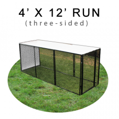 4' X 12' Chicken Run with Metal Top (THREE-SIDED)