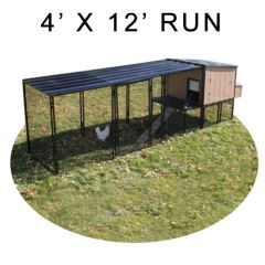4' X 12' Run w/ 4' X 4' Urban Coop (COMPLETE PACKAGE)