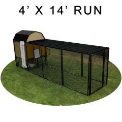 4' X 14' Run w/ 4' X 4' Modern Barn Coop (ULTIMATE PACKAGE)