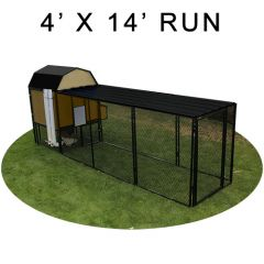 4' X 14' Run w/ 4' X 4' Modern Barn Coop (COMPLETE PACKAGE)