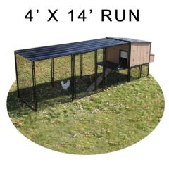 4' X 14' Run w/ 4' X 4' Urban Coop (ULTIMATE PACKAGE)