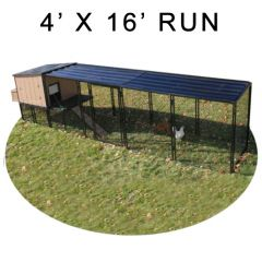 4' X 16' Run w/ 4' X 4' Urban Coop (COMPLETE PACKAGE)