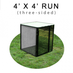 4' X 4' Chicken Run with Metal Top (THREE-SIDED)