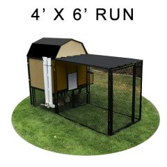 4' X 6' Run w/ 4' X 4' Modern Barn Coop (ULTIMATE PACKAGE)