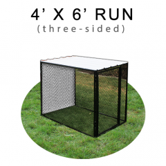 4' X 6' Chicken Run with Metal Top (THREE-SIDED)