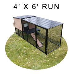 4' X 6' Run w/ 4' X 4' Urban Coop (BASIC PACKAGE)