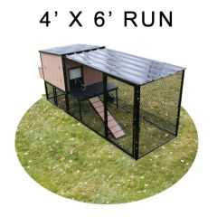 4' X 6' Run w/ 4' X 4' Urban Coop (COMPLETE PACKAGE)