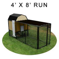 4' X 8' Run w/ 4' X 4' Modern Barn Coop (ULTIMATE PACKAGE)