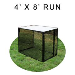 4' X 8' Chicken Run with Metal Top (FOUR-SIDED)