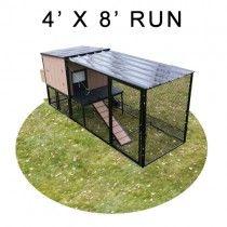 4' X 8' Run w/ 4' X 4' Urban Coop (BASIC PACKAGE)