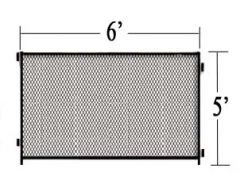 6' L X 5' H Single Panel Expanded Metal