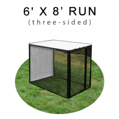 6' X 8' Chicken Run with Metal Top (THREE-SIDED)