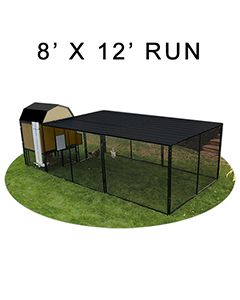 8' X 12' Run w/ 4' X 4' Modern Barn Coop (ULTIMATE PACKAGE)