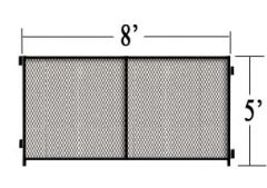 8' L X 5' H Single Panel Expanded Metal