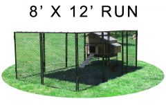 8' X 12' Run w/ 4' X 5' Large Snap Lock Coop (COMPLETE PACKAGE)