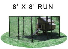 8' X 8' Run w/ 4' X 5' Large Snap Lock Coop (COMPLETE PACKAGE)