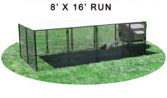 8' X 16' Run w/ 4' X 5' Large Snap Lock Coop (BASIC PACKAGE)