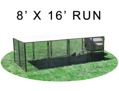 8' X 16' Run w/ 4' X 5' Large Snap Lock Coop (COMPLETE PACKAGE)