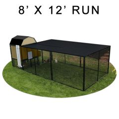 8' X 12' Run w/ 4' X 4' Modern Barn Coop (COMPLETE PACKAGE)