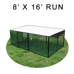 8' X 16' Chicken Run with Metal Top (FOUR-SIDED)