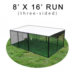 8' X 16' Chicken Run with Metal Top (THREE-SIDED)