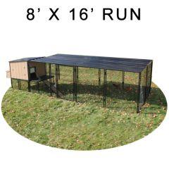 8' X 16' Run w/ 4' X 4' Urban Coop (COMPLETE PACKAGE)