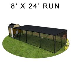 8' X 24' Run w/ 4' X 4' Modern Barn Coop (COMPLETE PACKAGE)