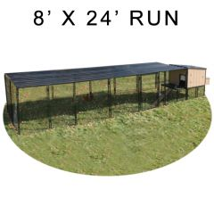 8' X 24' Run w/ 4' X 4' Urban Coop (ULTIMATE PACKAGE)