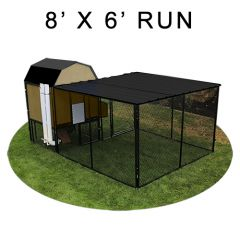 8' X 6' Run w/ 4' X 4' Modern Barn Coop (COMPLETE PACKAGE)