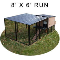 8' X 6' Run w/ 4' X 4' Urban Coop (BASIC PACKAGE)