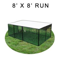 8' X 8' Chicken Run with Metal Top (FOUR-SIDED)