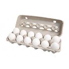 Ceramic Chicken Eggs (12 ct./white)