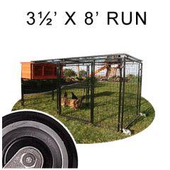 8' X 3½' Spring Fling Mobile Chicken Run