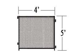 4' L X 5' H Single Panel Expanded Metal