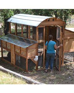 Rustic Top Walk In Chicken Coop